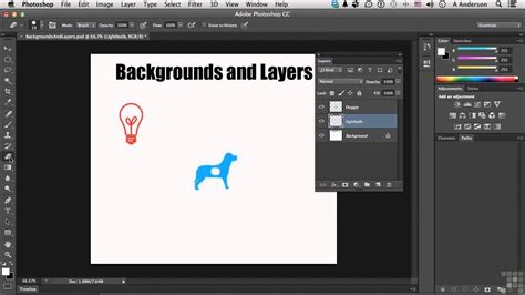 Adobe Photoshop CC Tutorial   Backgrounds And Layers - YouTube
