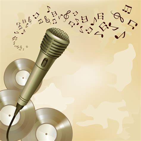 Retro microphone on music background - Download Free