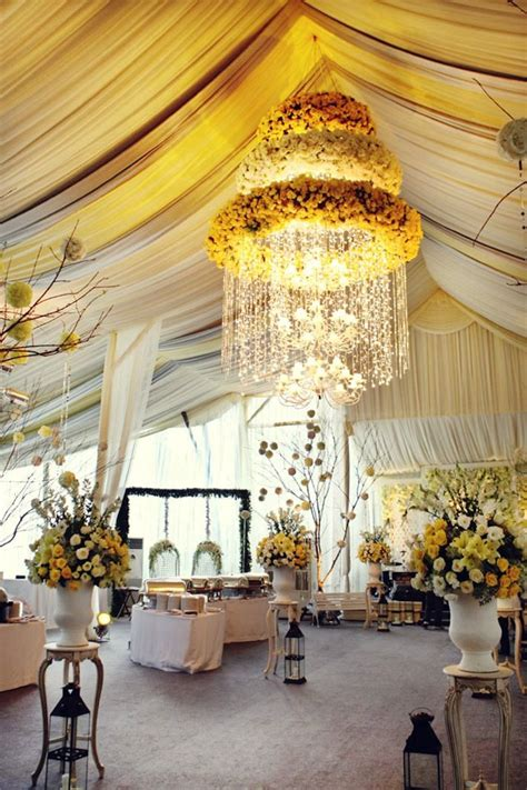 Romantic Wedding Ideas We Love: Floral Chandeliers for the