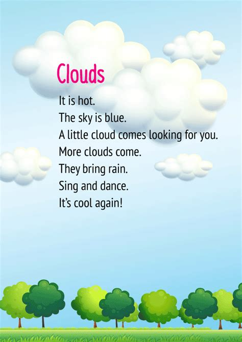 CBSE English Poem for Class 1 - Clouds   Free PDF Download