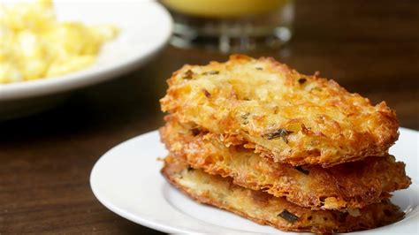 Cheesy Baked Hash Brown Patties - YouTube