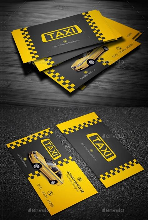 13+ Taxi Business Card Templates - AI, Pages, Word   Free