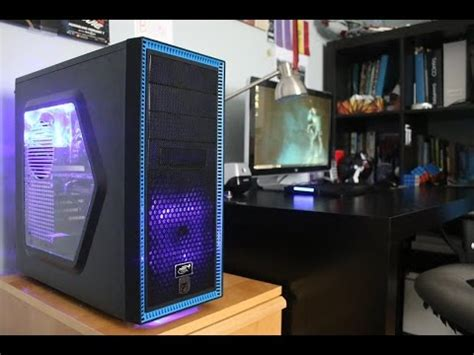 Black and Blue Gaming PC Build - Deepcool TESSERACT - YouTube