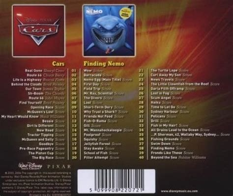 Film Music Site - Cars / Finding Nemo Soundtrack (Various