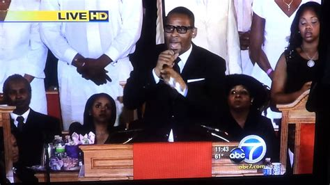 R Kelly live at Whitney Houston funeral - YouTube
