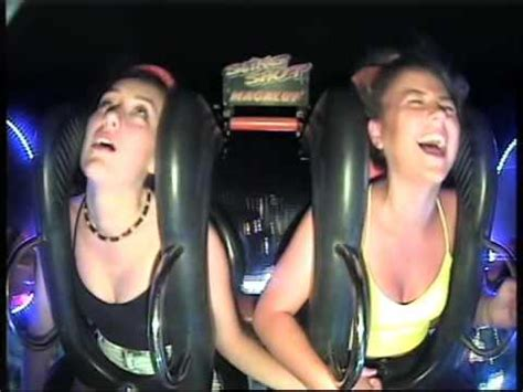 Funny Irish Girl Passes Out Twice On Slingshot Ride In