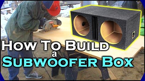 How To Build A Subwoofer Box   Beginner Car Audio Tutorial