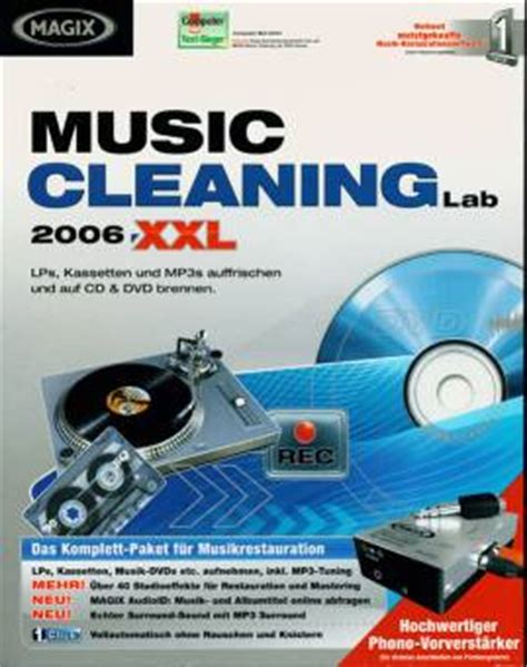 MAGIX Music Cleaning Lab 2006 XXL Edition - LPs, Kassetten