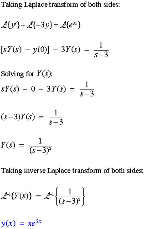 Use of Laplace Transforms to Solve Linear Differential