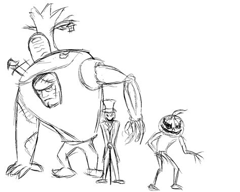 Works of My Ambitious Imagination: Scary Sketches