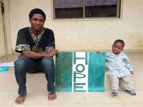 What the Nigerian 'witch' boy looks like now, eight weeks