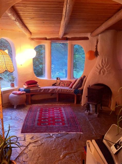 Warm and cozy-especially the rounded chimney and windows