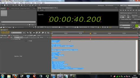 After Effects: Tutorial   How to create a digital timer