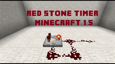 HOW TO MAKE A REDSTONE TIMER (clock) IN MINECRAFT 1
