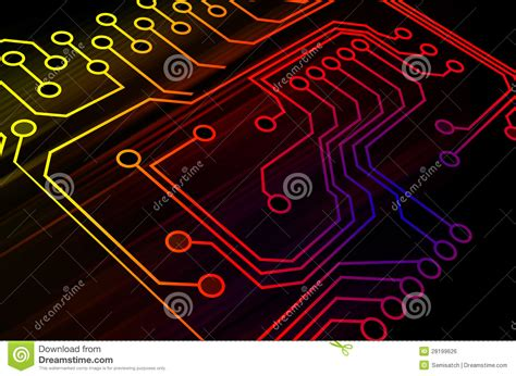 Microchip Background Royalty Free Stock Image - Image